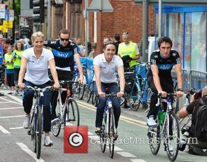 Gemma Atkinson, Gerrant Thomas, Victoria Pendleton Gerrant Thomas and David Daniels Sky Ride Manchester 2010 Manchester, England - 01.08.10