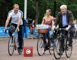 Boris Johnson, Chris Hoy and Kelly Brook