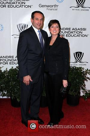 Mike and Mickie Krzyzewski Andre Agassi Grand Slam For Children at Wynn Resort and Casino in Las Vegas Las Vegas,...