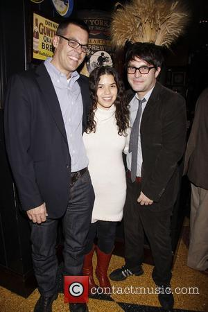 Adam Bock, America Ferrera and Trip Cullman   Afterparty for Playwrights Horizons' World Premiere production of 'A Small Fire'...