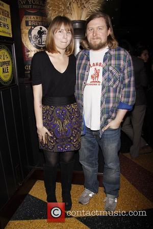 Annie Baker and Michael Chernus   Afterparty for Playwrights Horizons' World Premiere production of 'A Small Fire' held at...