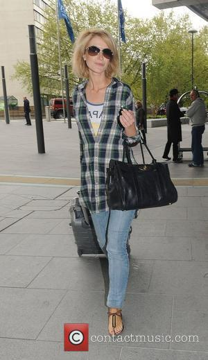 Katherine Kelly leaving her hotel after attending the 2010 British Soap Awards held at the London Television Centre last night....
