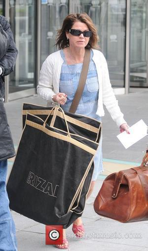 Vicky Entwistle leaving her hotel after attending the 2010 British Soap Awards held at the London Television Centre last night....