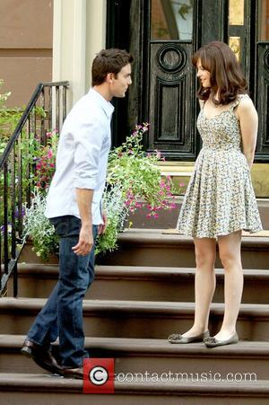 Colin Egglesfield and Ginnifer Goodwin Celebrities on the set of the new movie 'Something Borrowed' New York City, USA -...