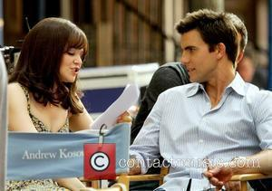Ginnifer Goodwin and Colin Egglesfield Celebrities on the set of the new movie 'Something Borrowed' New York City, USA -...