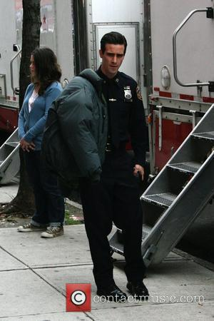 James Ransone on the set of his new movie 'Son of No One' filming in Queens New York City, USA...