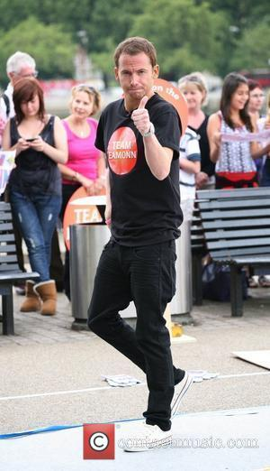 Joe Swash filming This Morning on the South Bank London, England - 02.08.10