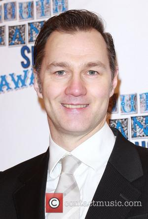 David Morrissey The South Bank show awards red carpet arrivals London, England - 26.01.10