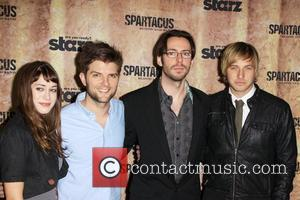Lizzy Caplan, Adam Scott, Ryan Hansen and Martin Starr Cast of 'Party Down' 'Spartacus: Blood and Sand' premiere held at...