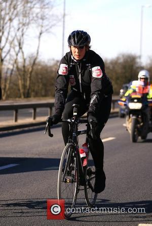 Miranda Hart taking part in The BT Sport Relief Million Pound Bike Ride Scotland - 02.03.10