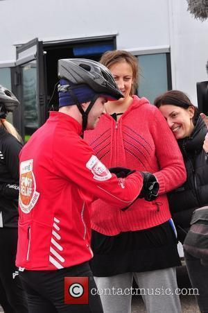 Miranda Hart and Davina McCall The BT Sport Relief Cycle Challenge Manchester, England - 03.03.10