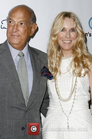 Oscar De La Renta and Alana Stewart