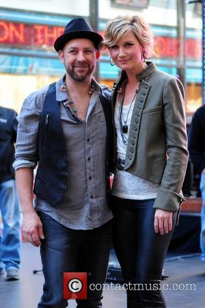 Kristian Bush and Jennifer Nettles Sugarland performing live at the Rockefeller Center as part of the 'Today Show' concert series...