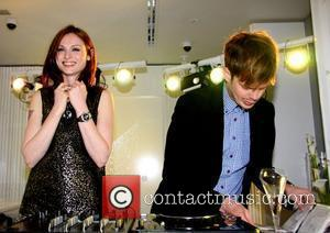 Sophie Ellis Bexter and Richard Jones attending the Swarovski flagship store launch on Oxford Street London, England - 15.09.10