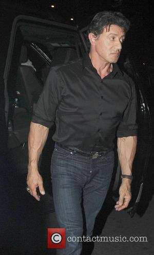 Sylvester Stallone arrives back at The Dorchester Hotel after attending the UK film premiere of 'The Expendables' at the Odeon...