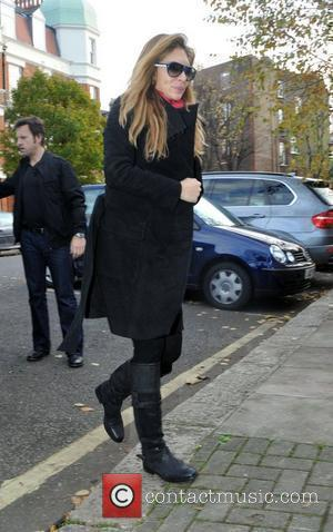 Ayda Field arriving at Maida Vale studios for the Radio One Live Lounge London, England - 22.11.10