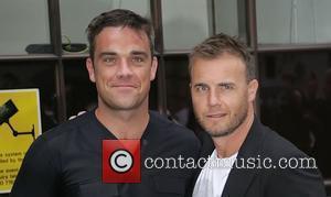 Take That, Chris Moyles, Gary Barlow and Robbie Williams