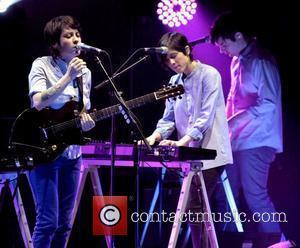 Tegan Quin and Sara Quin Indie rock duo Tegan and Sara performing live at Massey Hall Toronto, Canada - 19.01.10