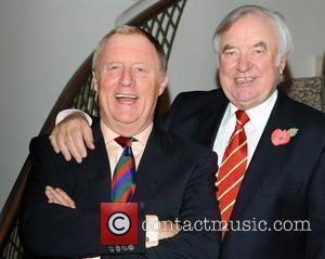 Chris Tarrant & Jimmy Tarbuck a tribute lunch for Sir Terry Wogan was held at the Dorchester Hotel London, England...