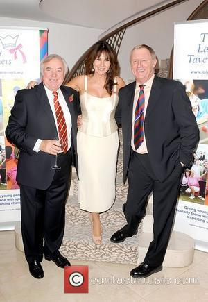 Jimmy Tarbuck, Linda Lusardi and Chris Tarrant attend a tribute lunch for Sir Terry Wogan, held at the Dorchester Hotel...