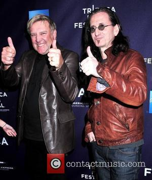 Alex Lifeson and Getty Lee 9th Annual Tribeca Film Festival - Premiere of 'Rush: Beyond The Lighted Stage' - Arrivals...