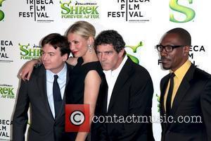 Mike Myers, Antonio Banderas and Cameron Diaz