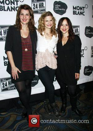 Nia Vardalos, Kyra Sedgwick and Rosie Perez The after party for the 10th Annual Production of 'The 24 Hour Plays',...