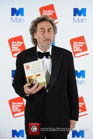 Howard Jacobson with his book 'The Finkler...