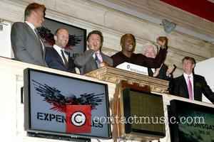 Dolph Lundgren, Jason Statham, Sylvester Stallone and Terry Crews