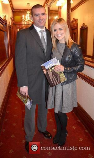 Karen Koster & John Maguire,  at the opening night of John B Keane's 'The Field' at The Olympia Theatre...