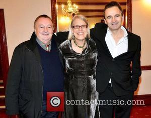 Denis Keane, Darina Allen, Eamon Keane,  at the opening night of John B Keane's 'The Field' at The Olympia...