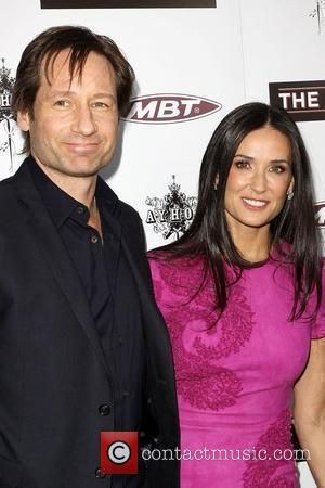 David Duchovny and Demi Moore