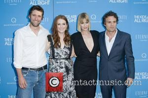Bart Freundlich, Julianne Moore, Sunrise Coigney and Mark Ruffalo  New York premiere of the 'Kids Are All Right' at...