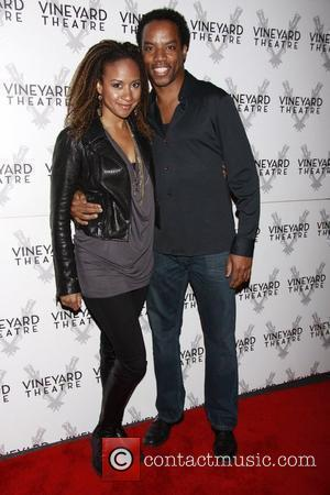 Tracie Thoms and Rodney Hicks  The opening of the Off-Broadway production of 'The Metal Children' at the Vineyard Theatre....