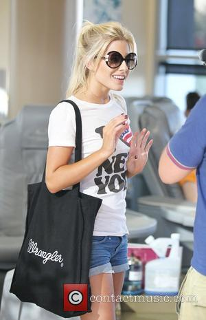 Mollie King The Saturdays get manicures and pedicures at Happy Nails and Spa in West Hollywood. Los Angeles, California -...