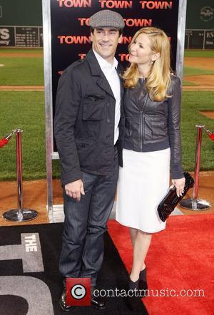 John Hamm and Jennifer Westfeldt  Premiere of 'The Town' at Fenway Park  Boston, USA - 14.09.10
