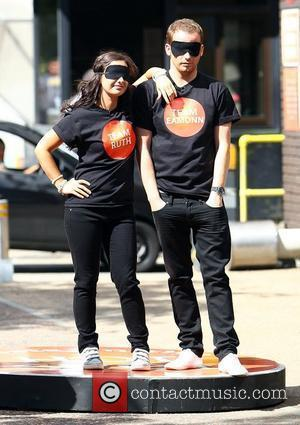 Hayley Tamaddon and Joe Swash outside the 'This Morning' studios London, England - 19.07.10