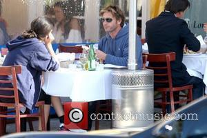 Thomas Kretschmann actor having lunch with a friend in West Hollywood Los Angeles, California - 15.01.10