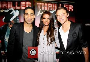 Lloyd Daniels, Stacy McClean, Danyl Johnson 1st Anniversary of 'Thriller Live' at the Lyric Theatre, Shaftesbury Avenue London, England -...