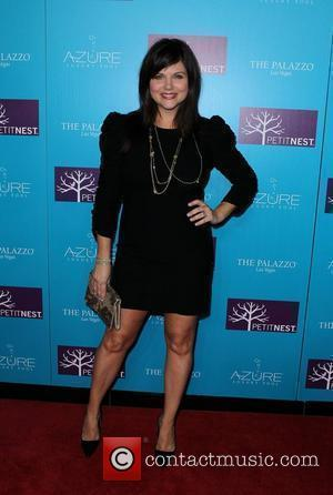 Tiffani Thiessen  Actress Tiffani Thiessen and celebrity designer Lonni Paul celebrate launch of PetitNest at Azure Luxury Pool at...
