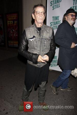 Lou Reed Opening night of of the Broadway production of 'Time Stands Still' at the Cort Theatre - Arrivals....