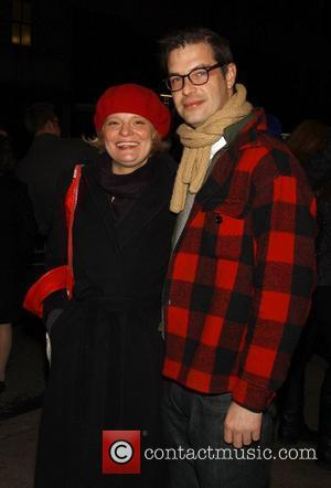 Martha Plimpton and her boyfriend Edward Todd Owens Opening night of the play 'Time Stands Still' at the Samuel J....