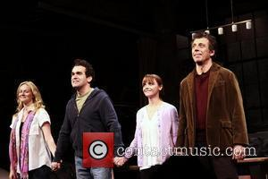 Laura Linney, Brian d'Arcy James, Christina Ricci and Eric Bogosian Opening night of of the Broadway production of 'Time Stands...