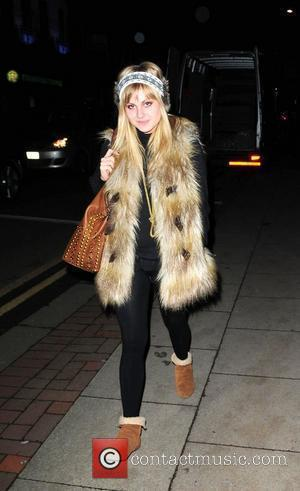 Tina O'Brien  leaving 'Snow White and The Seven Dwarfs' Panto rehearsals. Manchester, England - 15.11.10
