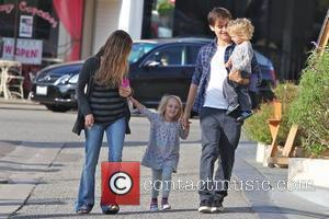 Jennifer Meyer, Tobey Maguire and their children Ruby Maguire and Otis Maguire Head off for a family breakfast Brentwood, California...