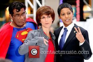 Al Roker as Superman, Natalie Morales as Justin Bieber and Tamron Hall as President Barack Obama NBC's 'Today Show' celebrates...