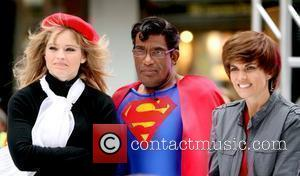Sara Haines as a French director, Al Roker as Superman, Natalie Morales as Justin Bieber NBC's 'Today Show' celebrates Halloween...