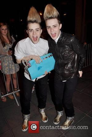 Jedward, aka John Grimes and Edward Grimes outside the RTE studios after appearing on 'The Late Late Show' Dublin, Ireland...