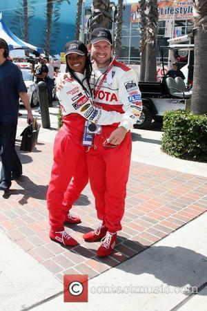 Tika Sumpter & Christian Slater The Toyota Pro/Celebrity Race qualifying at Long Beach Los Angeles, California - 16.04.10