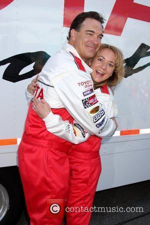 Patrick Warburton and Megyn Price  Pess practice day for the Toyota Pro/Celebrity Race Los Angeles, California - 06.04.10